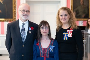 Paul and Cathy Keddy with Governor General Julie Payette