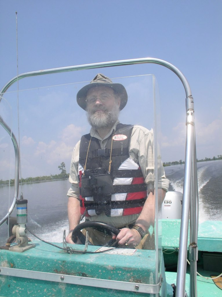Wetland ecologist Dr. Paul Keddy visiting the Manchac Swamp
